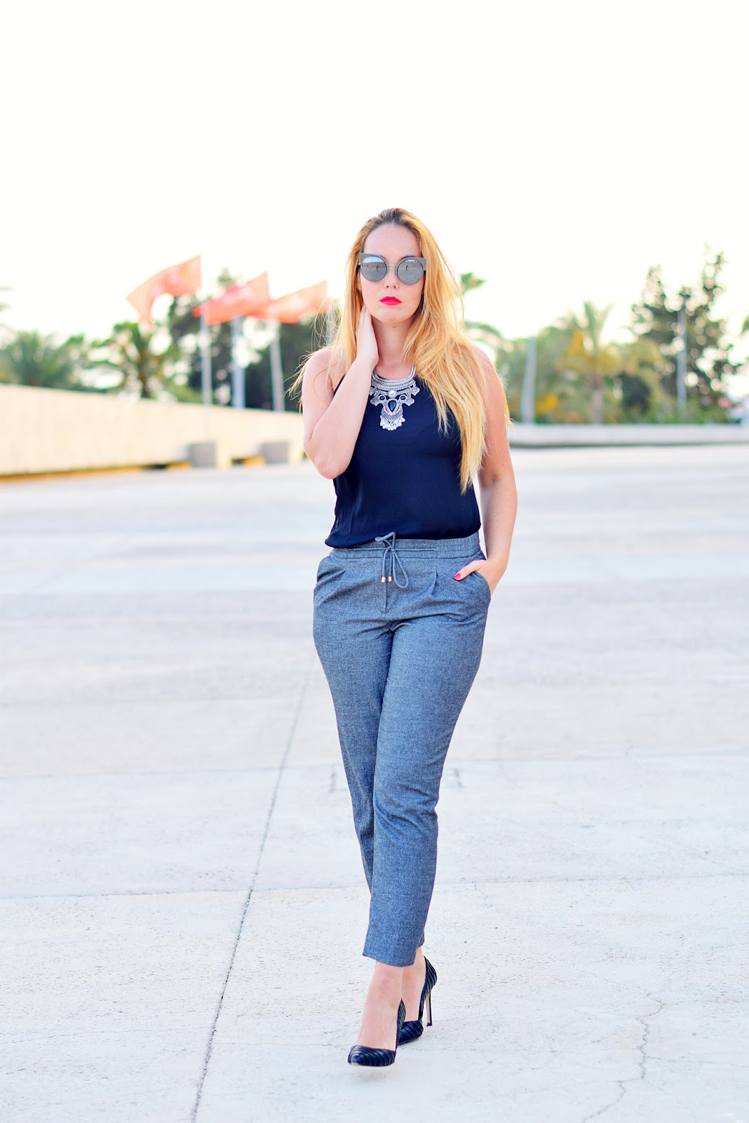 nery hdez, Fendi, Optical H , pantalones Jogging, wear to work look,