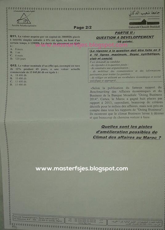 Master Ingénierie de Projets et Management d'Affaires (IPMA) fp-el jadida