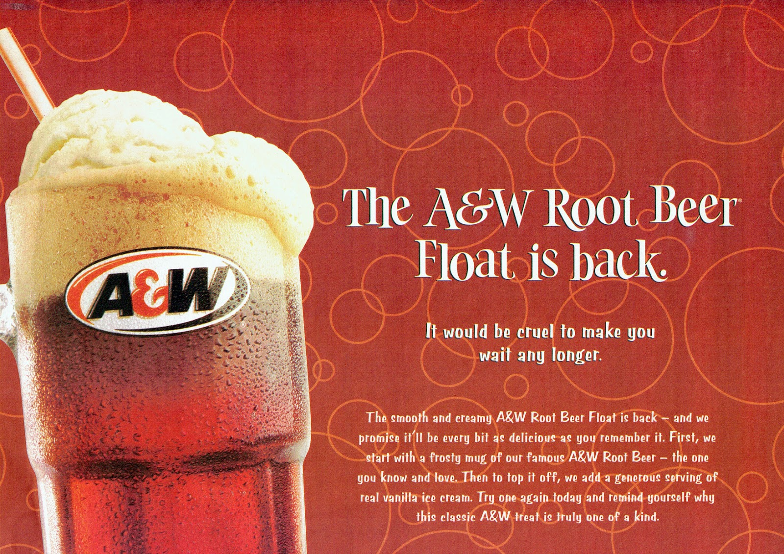 A&W Root Beer Float it Back