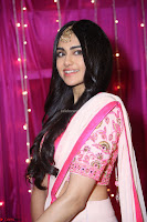 Adaa Sharma in White Pink Saree at Zee Telugu Apsara Awards 2017 10.JPG