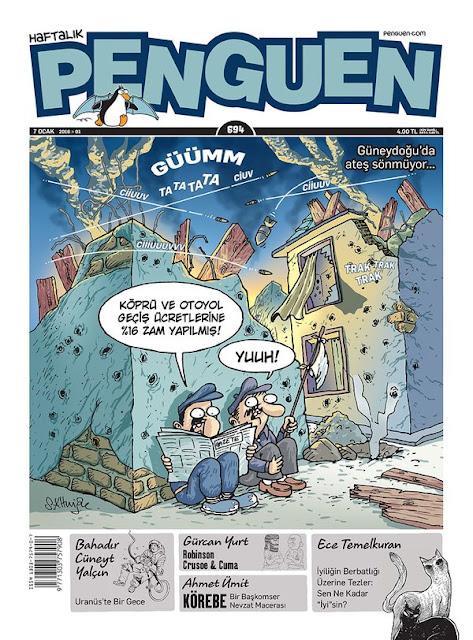 Güneydoğu'da operasyonlar Penguen karikatür