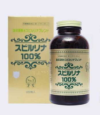 Tảo Spirulina Nhật bản - Tảo Xoắn Nhật Bản giúp tăng cân
