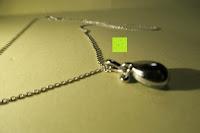 Rückseite: Neoglory Jewellery Silber mit Swarovski Elements Halskette Armkette Ohrringe Tropfen blau