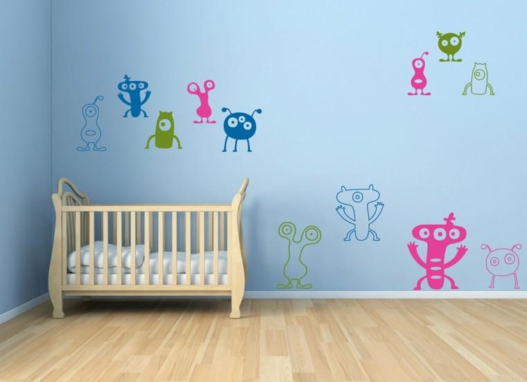decoracion artistica interiores paredes con dibujos modernos