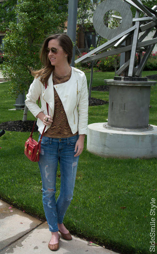 Ombre Highlights, Ombre Hairstyle, Ombre Inspiration, Hair by Charlie Dallas, Dallas Design District, Fashion Blogger, Personal Style Outfit, Ashley Aspinwall, H&M Jacket, Outfit Inspiration, Current Elliot Jeans, Red Marc Jacobs Bag, Jennifer Zeuner Lariat Necklace