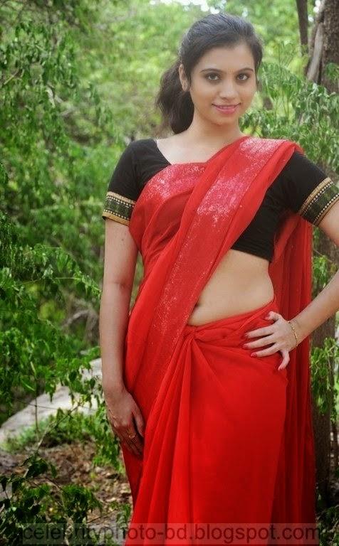 Actress Priyanka Nair Red Saree Stills Spicy Hot Photos With Short Biography