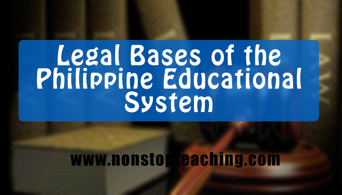 legal bases of the philippine education However, the implementation of such programmes across the philippines'   legal basis: the former education system, which has been in place since  1945,.
