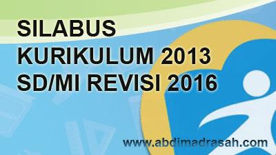 Silabus Kurikulum 2013 SD/MI Edisi Revisi 2016
