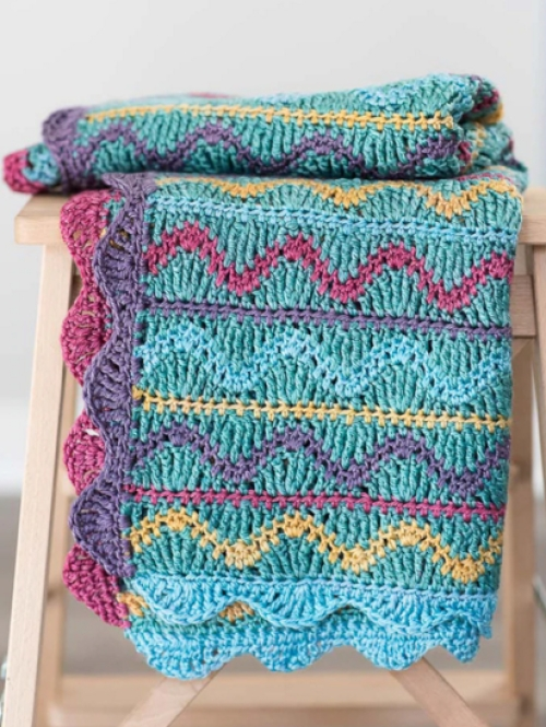 Squiggles Crochet Baby Blanket - Free Pattern