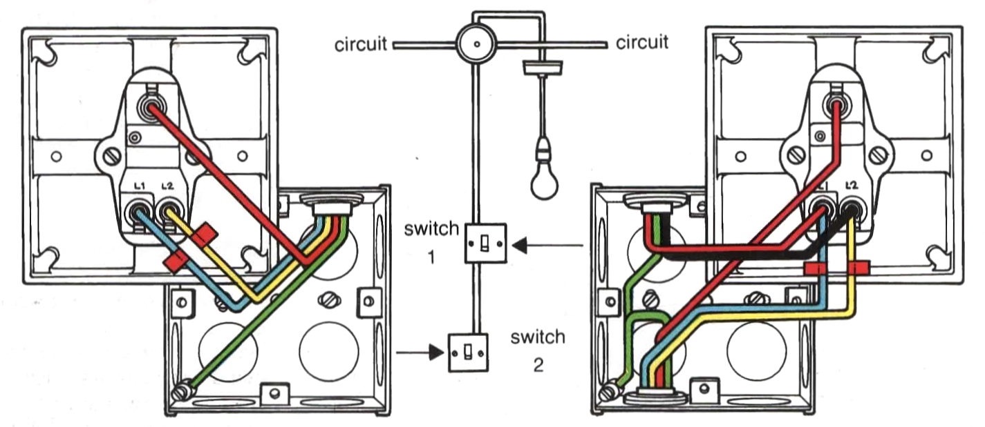 Wiring Diagram 2 Lights Double Switch : Two light switch wiring diagram electrical