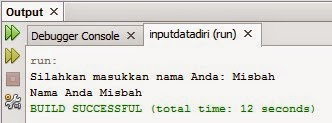 Program Input Data Diri Sederhana