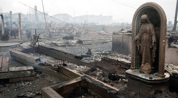 Blessed Virgin Mary Statues Survives Hurricane Sandy and Queens Fire