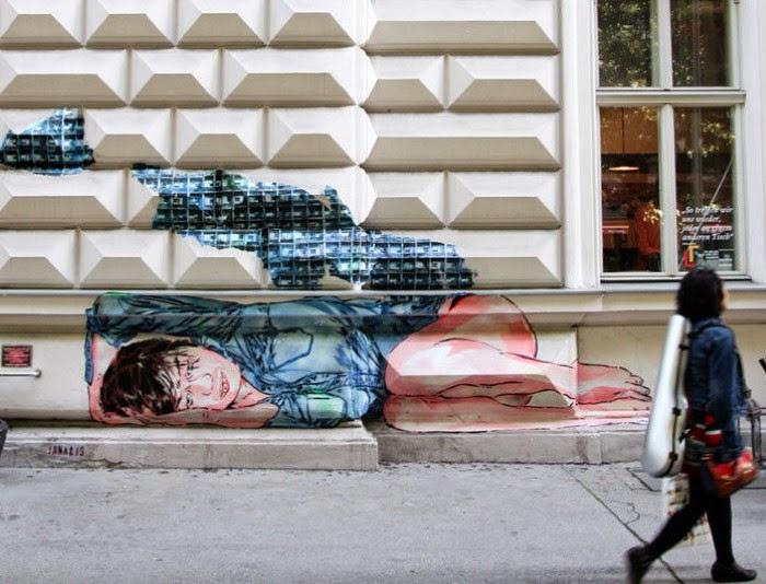 Стрит арт искусство. Jana & JS (street art)