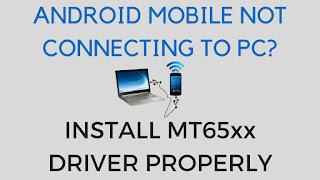 New Media Tek MT65xx Preloader Vcom Drivers Free Download for Windows