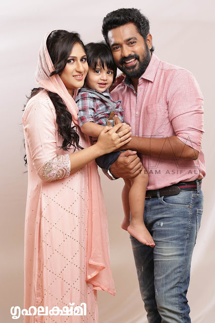 Asif Ali and Wife new Photo Shoot for Grihalakshmi Magazine