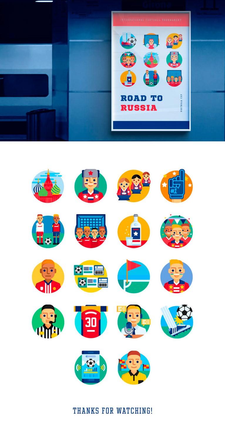 colección-de-iconos-de-fútbol-flat-design-gratis