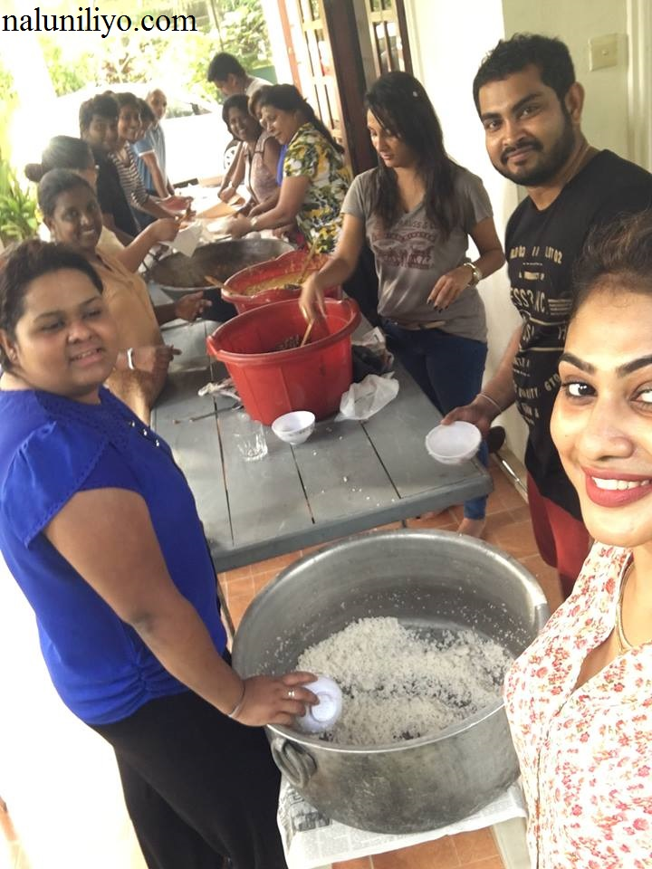 Nipuni Wilson cooking donations