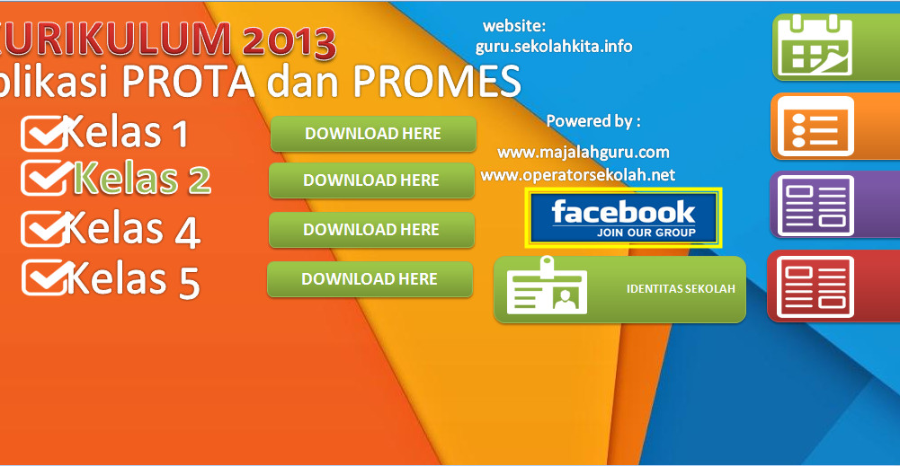 Download Aplikasi Prota Promes Kelas 2 Berbasis Ms. Excel Terbaru (New Update)