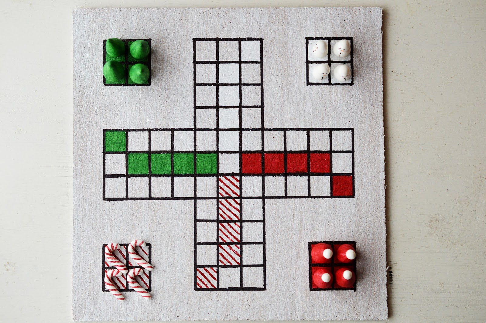 DIY Christmas Board Game | Santa ärgere dich nicht | Motte's Blog