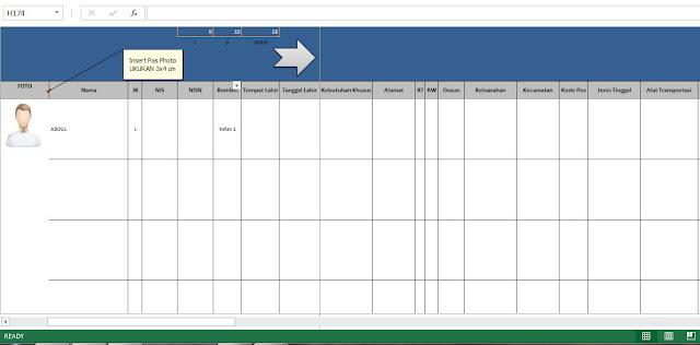 Download Contoh Buku Induk Siswa Otomatis Terbaru Format Excel