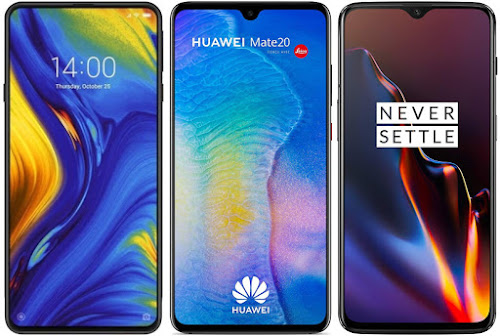 Xiaomi Mi Mix 3 vs Huawei Mate 20 vs OnePlus 6T