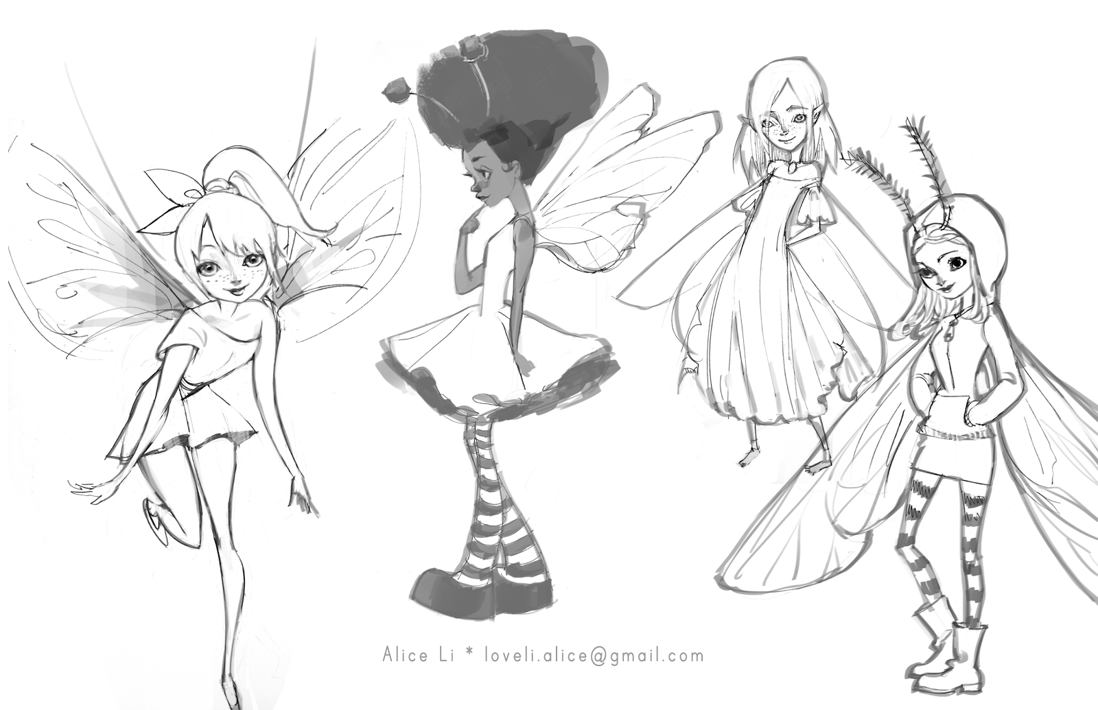 Alice Drawing...
