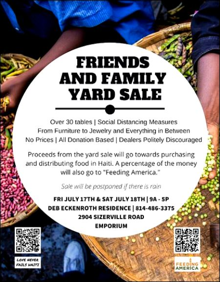 7-17/18 Friends & Family Yard Sale, Emporium, PA