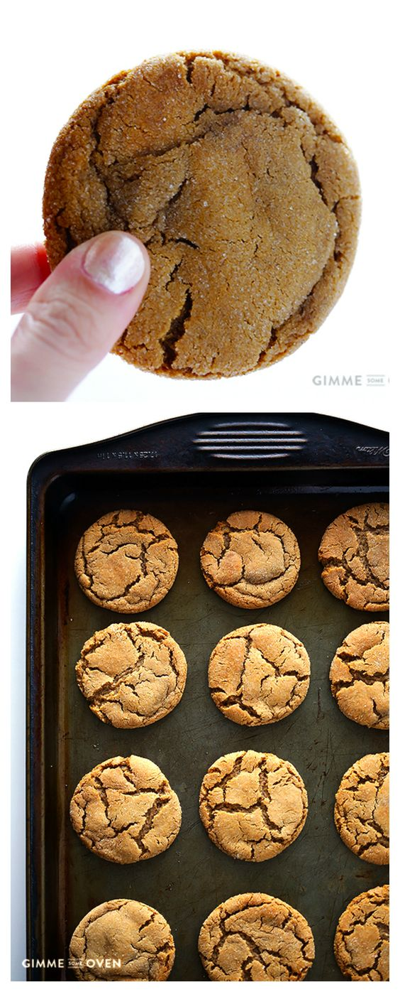 CHEWY GINGER MOLASSES COOKIES #chewy #ginger #molasses #cookies #cookierecipes #easycookierecipes