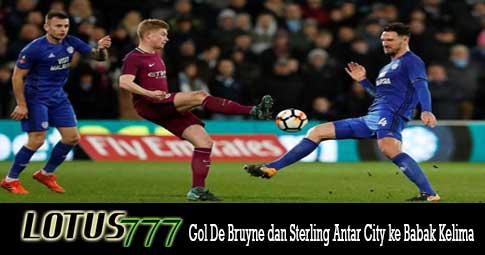 Gol De Bruyne dan Sterling Antar City ke Babak Kelima