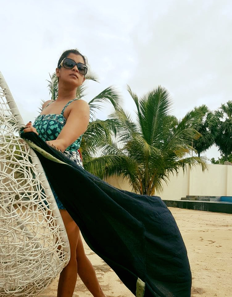nadeesha hemamali bikini in pasikuda beach