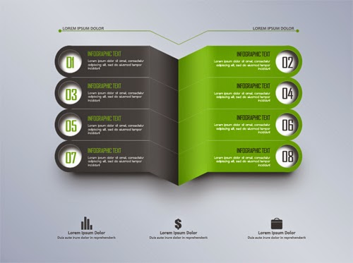 Video Tutorial Modern Gray And Green Infographic