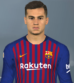 PES 2017 Faces Philippe Coutinho by Facemaker Huseyn