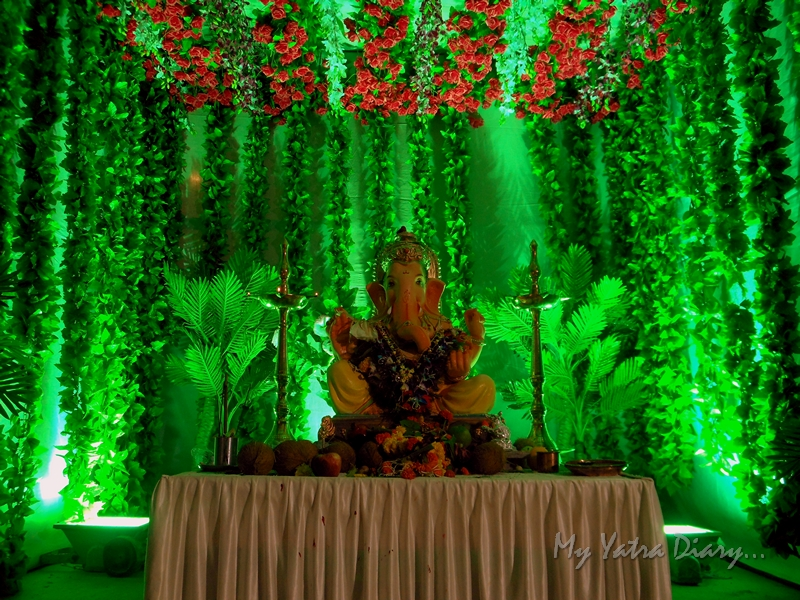 Lord Ganesha in green, Ganesh Pandal Hopping, Mumbai
