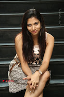 Actress Vanditha Stills in Short Dress at Kesava Movie Success Meet .COM 0174.JPG
