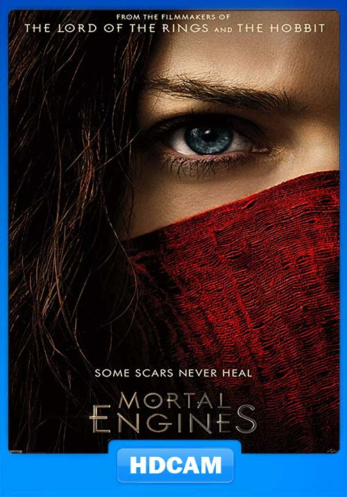 Mortal Engines 2018 480p HDCAM Hindi Tamil Telugu Eng x264 | 480p 300MB | 100MB HEVC Poster