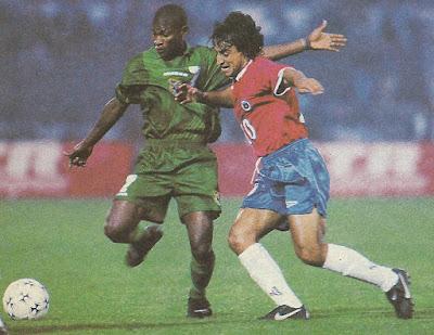 Chile y Bolivia en partido amistoso, 26 de mayo de 1996