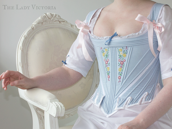 Reproduction: 1780's Embroidered Stays