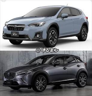 新型XV CX-3 車体画像比較