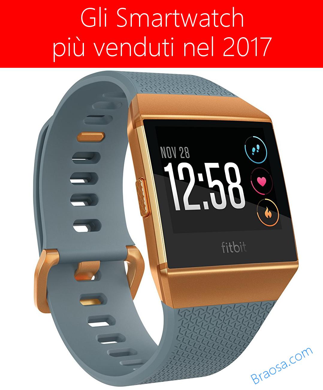 Gli Smartwatch più venduti su Amazon nel 2017
