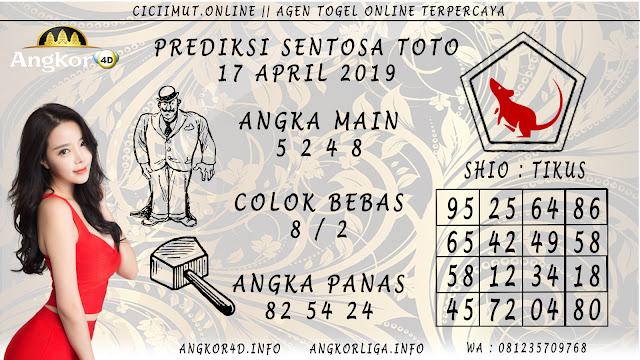 Prediksi Angka Jitu SENTOSA TOTO 17 APRIL 2019