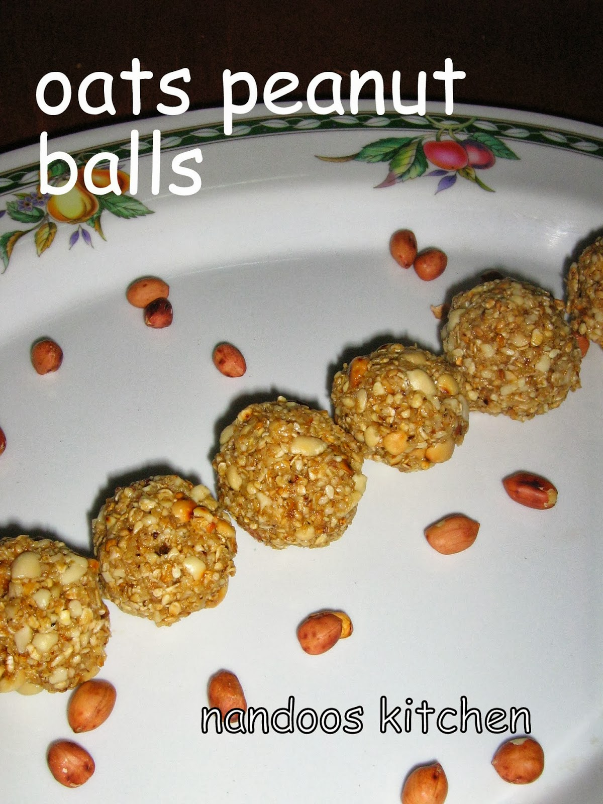 Oats Peanut ladoo / peanut oats ladoo / oats ladoo