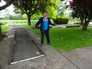 Richard Gottfried at Abingdon's Abbey Meadows Crazy Golf course