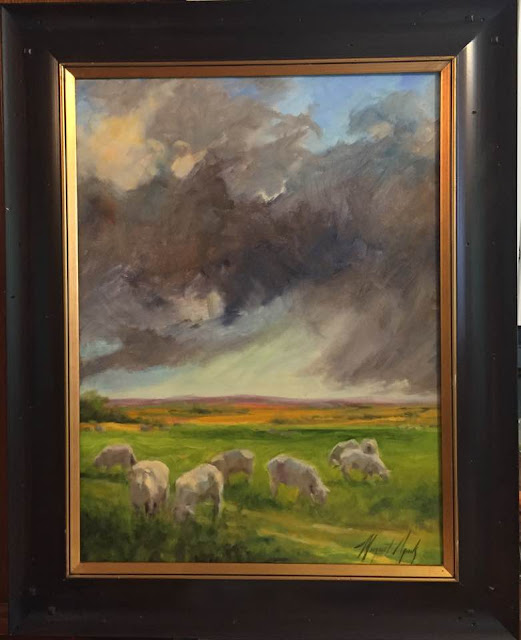 Oklahoma Pastured Sheep on a Stormy Day