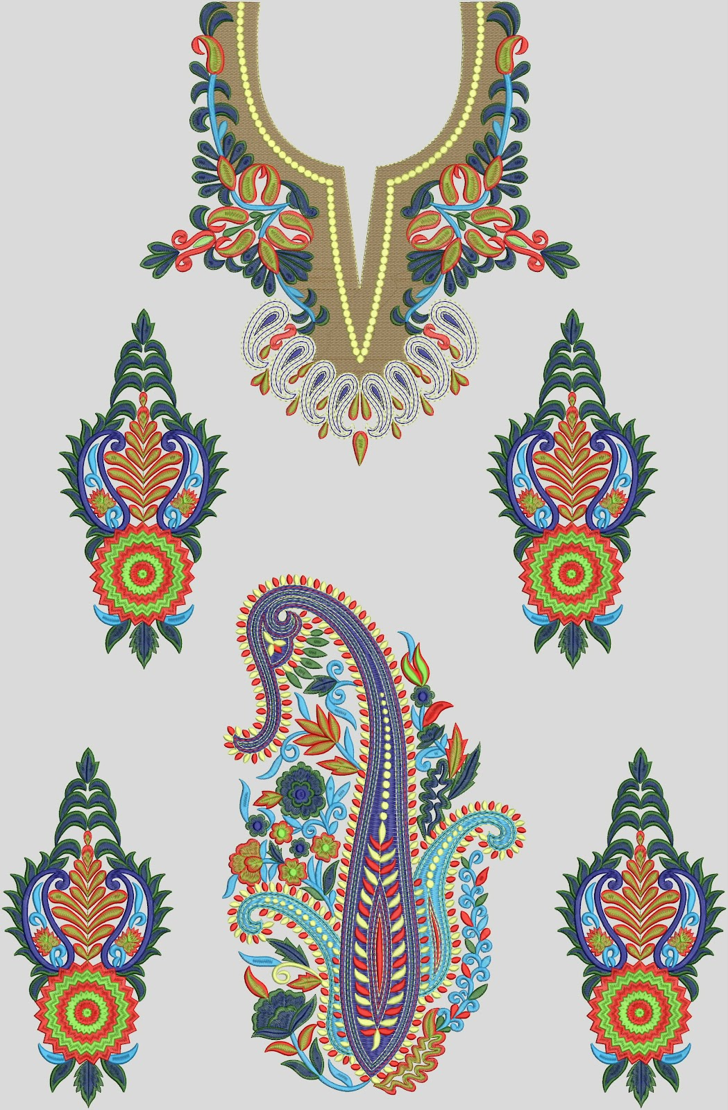 Neck Embroidery Designs Free Download