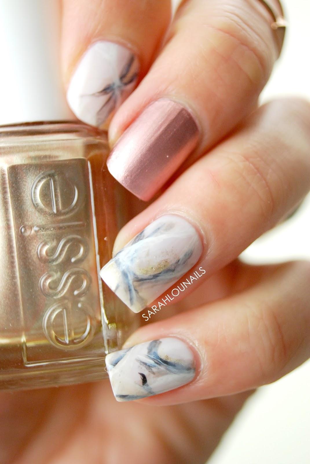 Sarah Lou Nails: Rose Gold Marble Nails!