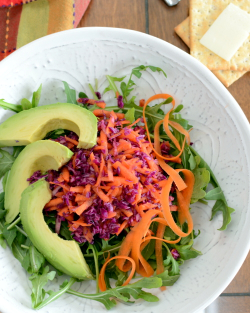 Light Red Cabbage & Carrot Slaw, another bright, healthy salad ♥ A Veggie Venture. Weight Watchers Friendly. Low Carb. Low Fat. Vegan. Naturally Gluten Free. Winter Color!