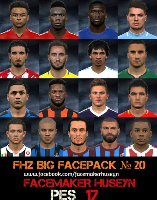 FHZ Big Facepack No. 20 PES 2017