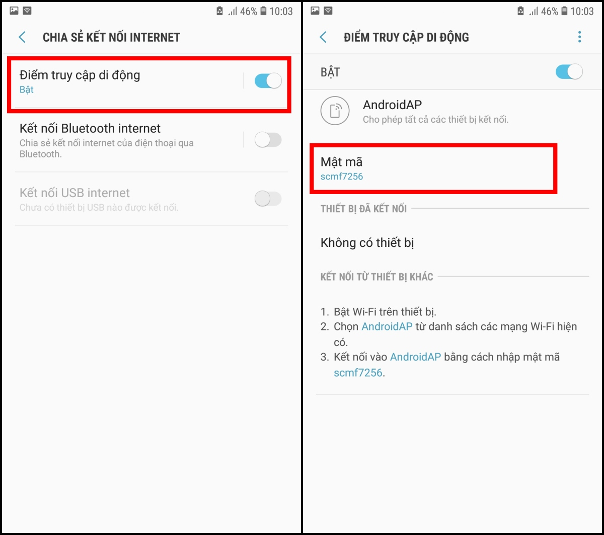 Hướng dẫn cách phát wifi từ điện thoại di động iphone hoặc Android