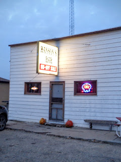 Hanson's Bar in Robinson, North Dakota; the geographic center of North America