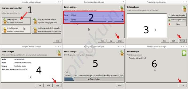 Cara BackUp File di Linux Mint Dengan Perangkat Pembuat